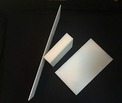 """1/2"""" White HDPE Plastic Sheet - Priced/Square Foot- Cut to Size!"""