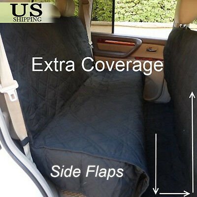 Large Deluxe Quilted Padded Car SUV Seat Cover Pet Dog Extra Coverage Protector