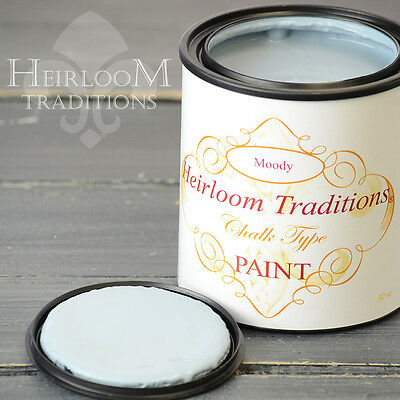 Chalk Type Paint Heirloom Traditions Paint Moody Blue Gray Furniture Paint DIY