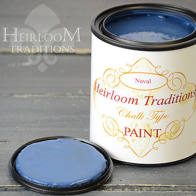 Chalk Type Paint Heirloom Traditions Paint Naval Navy Blue Furniture Paint DIY