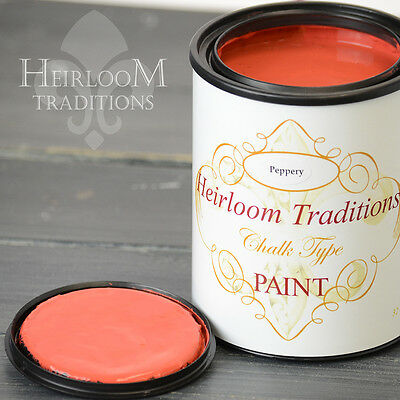 Chalk Type Paint Heirloom Traditions Paint Peppery Red Furniture Paint DIY