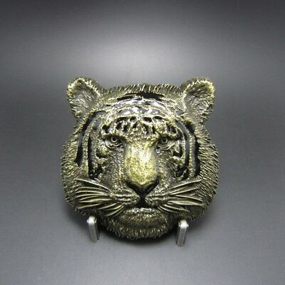 Antique Bronze Plated Tiger Metal Belt Buckle
