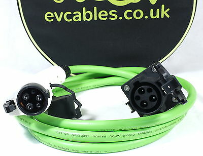 EV Electric Car J1772 Type 1 Extension Cable for 16 or 32amp outlets