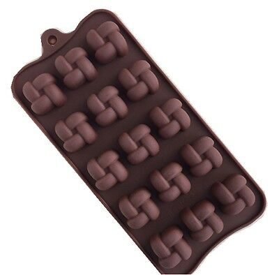 Silicone Chinese Knot Chocolate Pastry Making Molds Ice Cube Trays au