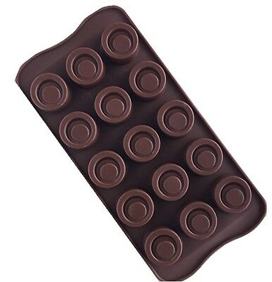 Silicon 15-Round Chocolate Cake Candy Baking Mould Tool DIY au