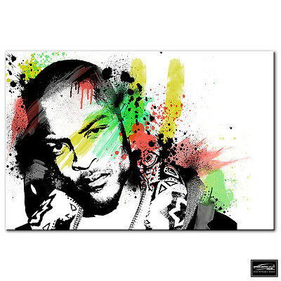 Musical Paul Weller Grunge Abstract BOX FRAMED CANVAS ART Picture HDR 280gsm