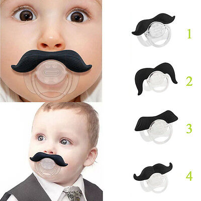 Safe Funny Dummy Dummies Pacifier Novelty Moustache Baby Child Soother Nipples