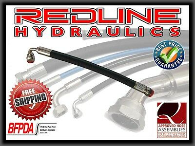 "Redline Hydraulics 1/4"" R2At Hydraulic Hose Assembly Metric Heavy Series"