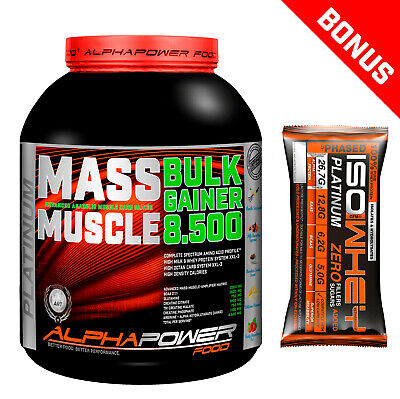 Mass Gainer Bulk Hard Gainer 2kg / 5 kg Masseaufbau Protein Whey Weight Gainer