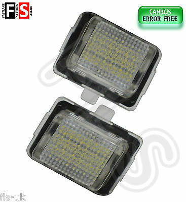 2 X Mercedes Car Number Plate Lights White Led 18Smd Canbus Error Free
