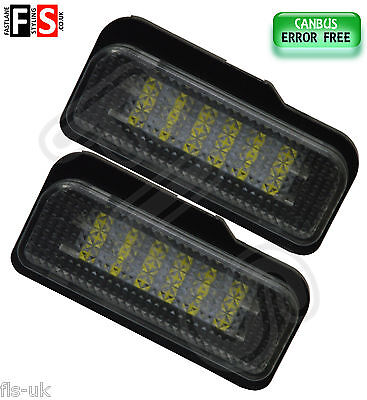 Mercedes W211 W203 R171 Number Plate Lights White Led 18Smd Canbus Error Free