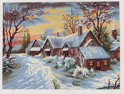 Diamant Printed Tapestry/Needlepoint Canvas - Winter Cottage