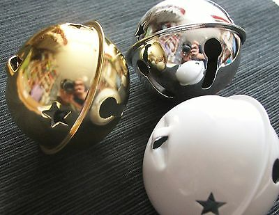 """1 x super large jingle bell for crafts & decorations 2 3/4"""" - colour options"""