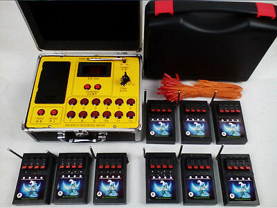 36 Cue Fireworks Firing system Electric Wire AC digital remote transmitter stage