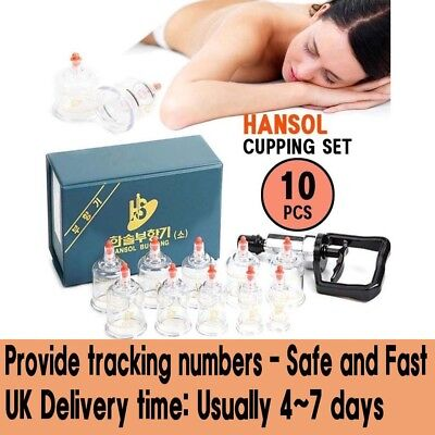 HANSOL CUPPING SET 10(CUPS) Slimming Cupping Massage Acupuncture Vacuum Therapy