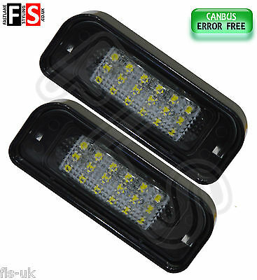 Mercedes W220 1999-2005 Number Plate Lights White Led 18Smd Canbus Error Free