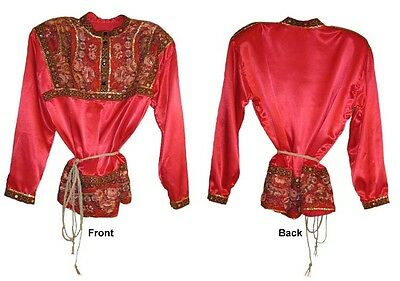 *russian Traditional Men Festive Red Shirt