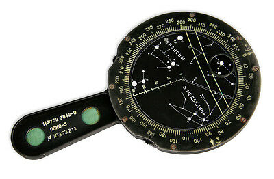 1970-s SOVIET MANUAL ASTRONAVIGATOR PVKO-3 FOR USE ONBOARD SALYUT SPACE STATION