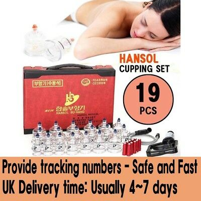 HANSOL CUPPING SET 19 CUPS Slimming Vacuum Therapy Massage acupuncture
