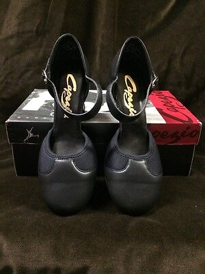 NIB Capezio #655 Piccadilly Black Character Shoe, Musical Theater Ladies 8M