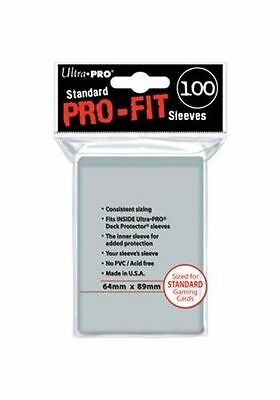 Lot Pro-Fit 100 200 500 ou 1000 Sleeves Ultra Pro Protège Cartes Pochettes Card