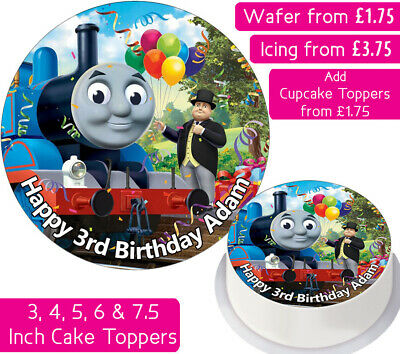 Thomas The Tank Engine Edible Wafer & Icing Personalised Cake Toppers Decoration