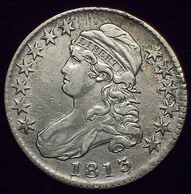 1813 BUST Half Dollar SILVER *RARE O-108 Variety R.4 * XF+ Detailing Authentic