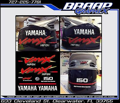 Yamaha Vmax Decal Stickers 150 200 250