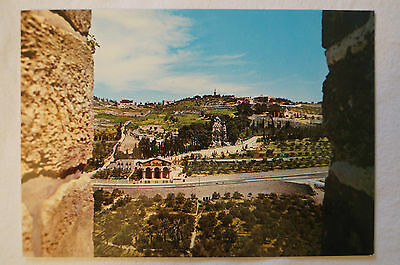 Jerusalem - Mount of Olives - Blessed are those who Mourn - Vintage - Postcard.