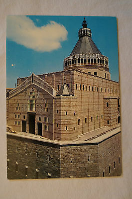 Nazareth - Basilica of Annunciation - Vintage - Postcard.