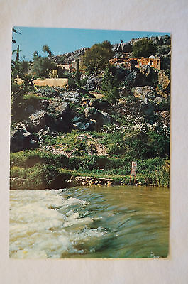 Banias - Sources of The Jordan River - Hallowed be the name - Vintage -Postcard.
