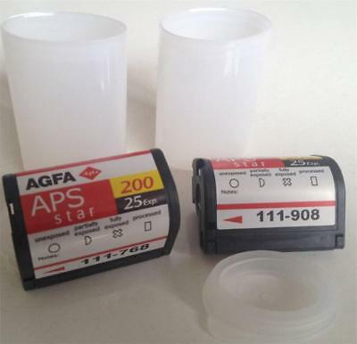 2 Agfa APS Film Star 25exp 200 ISO Color Print for APS Cameras New DX IX 240 aps