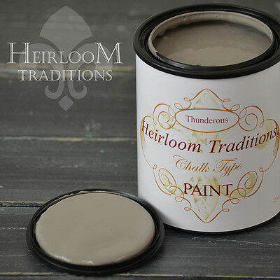 Chalk Type Paint Heirloom Traditions Paint Thunderous Grey Furniture Paint DIY