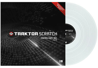 Native Instruments Traktor Scratch Control Vinyl Clear MKII Vinile timecode DJ