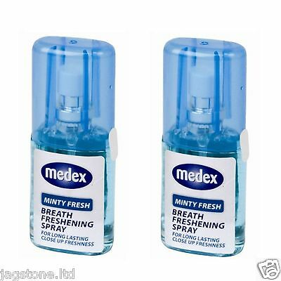 2 x FRESH MINT BREATH FRESHENER MOUTH SPRAY BAD BREATH LONG LASTING 20ML