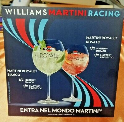 Pubblicita' Plastificata Da Bar Martini Originale Williams Racing Advertising