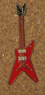 """A71 Vintage Pin Rock N Roll Guitar Red 1.7"""""""