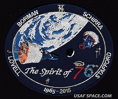THE SPIRIT of 76 - GEMINI DUAL SPACECRAFT - 50th ANNIVERSARY SPACE PATCH Gagnon