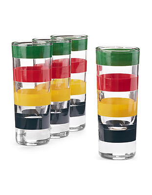 Hudson's Bay Company HBC Multi Stripe Shot Glasses (4 Pack)