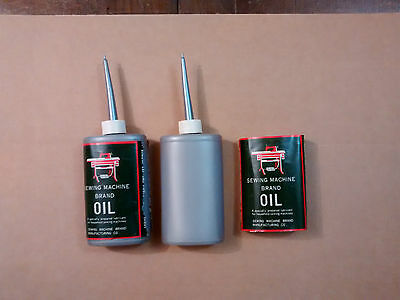Vintage sewing machine brand oil two full NEW can 2.5oZ good for Singer etc