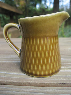 Vintage Norway Stavangerflint Creamer Ildfast Brown Small Pitcher 4oz Green