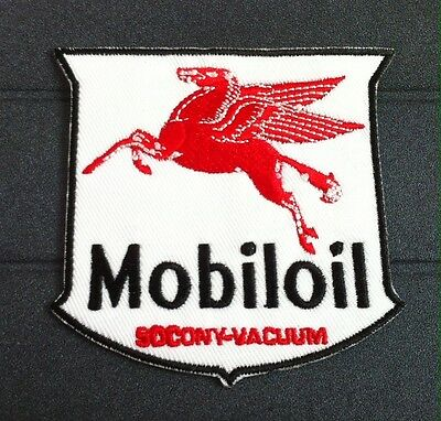 New Mobil Oil Socony-Vacuum Red Flying Horse Pegasus Vintage Logo Iron On Patch