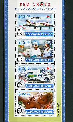 Solomon Islands 2015 MNH Red Cross 4v M/S Medical Health Air Ambulance