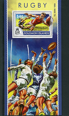 Solomon Islands 2015 MNH Rugby 1v S/S Sports