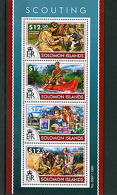 Solomon Islands 2015 MNH Scouting 4v M/S Scouts Stamps