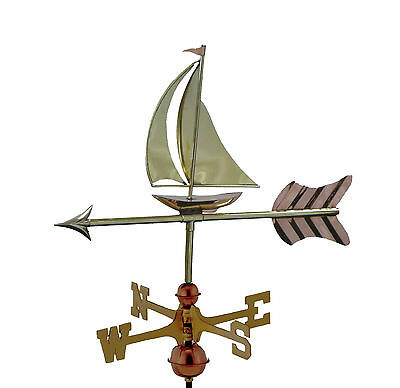 Sail Boat Copper Weathervane