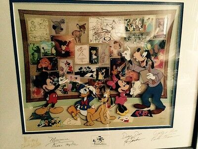 Disney's Fab Five Story Session Signed by Voices of Donald Duck, Mickey mouse