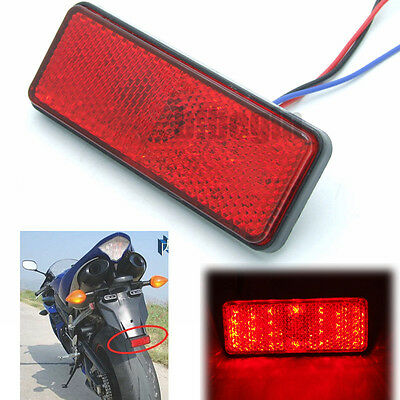 Motorcycle 12V 24 LED Brake Turn Signal License Plate Stop Tail Light Reflectors