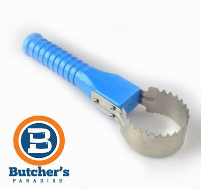 Stainless Steel Fish Scaler With Pvc Blue Handle