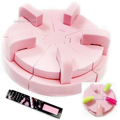 1 x Spongy Nail Art Display Practice Showoff DIY Infinite Design Shape Stand 594